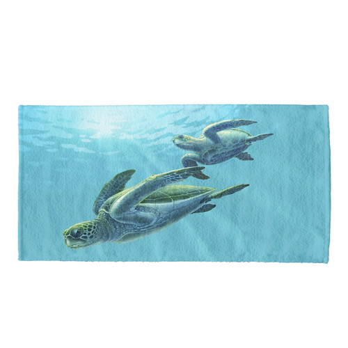 Duo Turtle Bath & Beach Towel