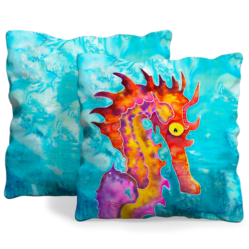 Front and back of pillow