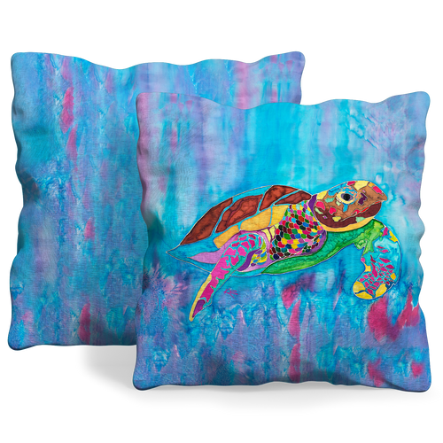 Turtle Time Pillow Cover