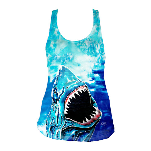 Shark Attack Ladies Racerback