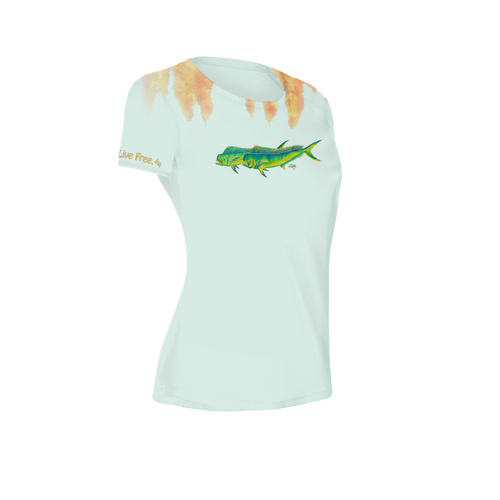 Weed Line Mahi Women's Short-Sleeve Solar Performance Shirt