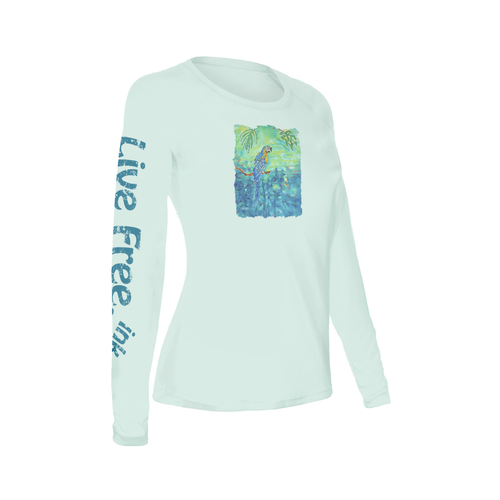 Tropical Blue Women's Long-Sleeve Solar Performance Shirt