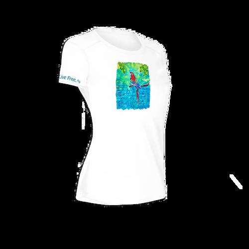 Tropical Red Women's Short-Sleeve Solar Performance Shirt