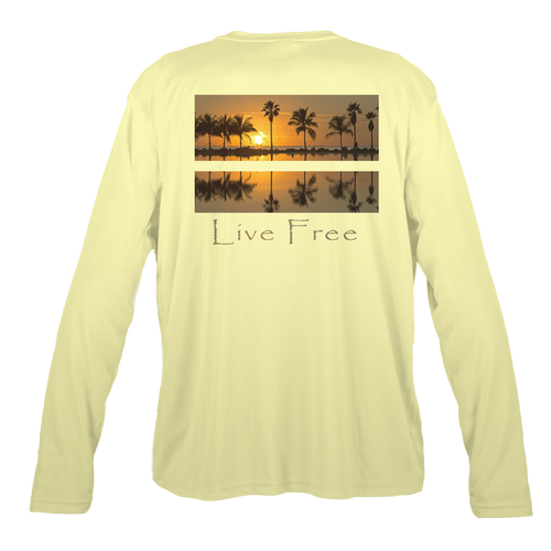 Sunset Palms Men's Long-Sleeve Solar Performance Shirt