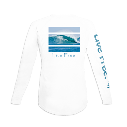 Catching Giant Waves Women's Long-Sleeve Solar Performance Shirt