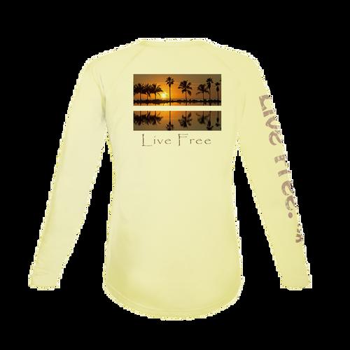Sunset Palms Women's Long-Sleeve Solar Performance Shirt