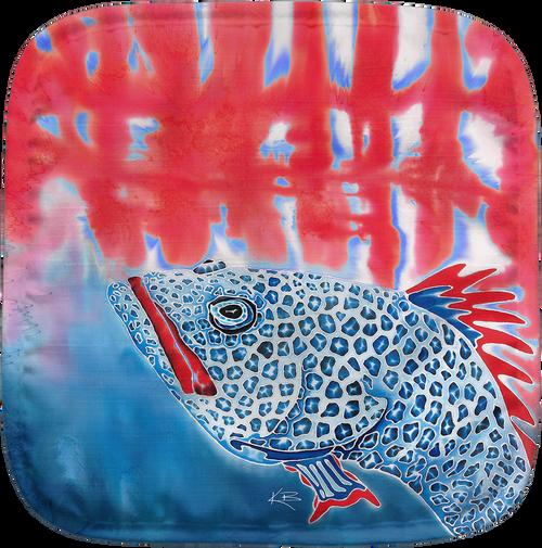 Red White and Blue Grouper Potholder