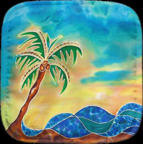 Palm Island Potholder