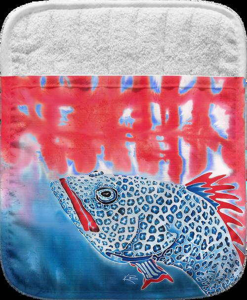 Red White and Blue Grouper Pocket Mitt