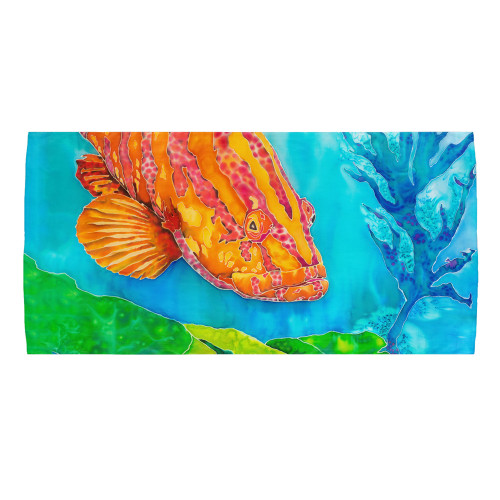 Grouper in the Green Bath & Beach Towel