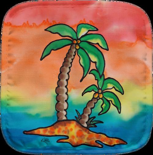 Rainbow Palms Potholder