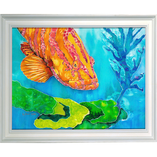 Grouper in the Green Resin Print