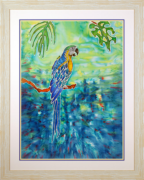 Blue in Paradise Original Silk Painting