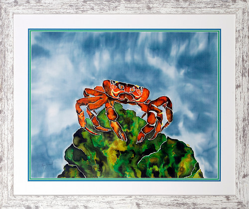 Crabby Original Silk Painting
