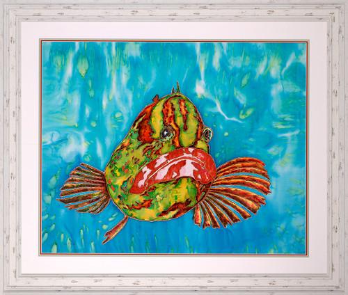 Fearless Original Silk Painting