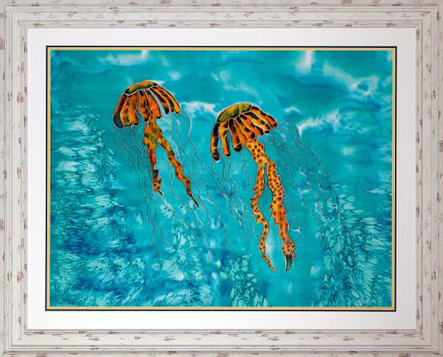 Floating Friends Original Silk Painting