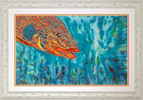 Majestic Royal Snapper Original Silk Painting