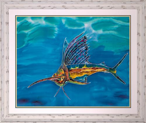 Sailing the Waters Original Silk Painting