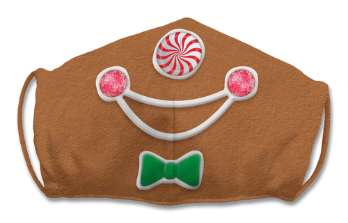 Adjustable Gingerbread Man Face Mask