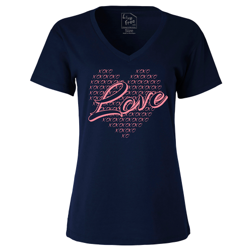 Love Ladies Cotton V-neck