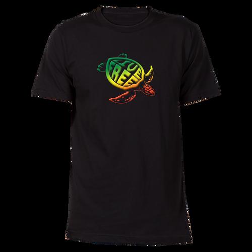 Rasta Sea Turtle Cotton T-Shirt
