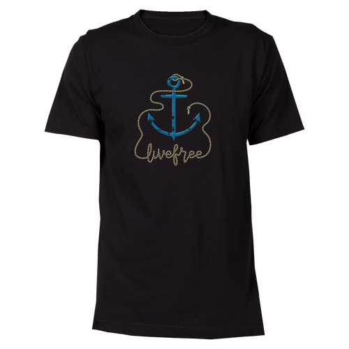 Blue Anchor Cotton T-Shirt