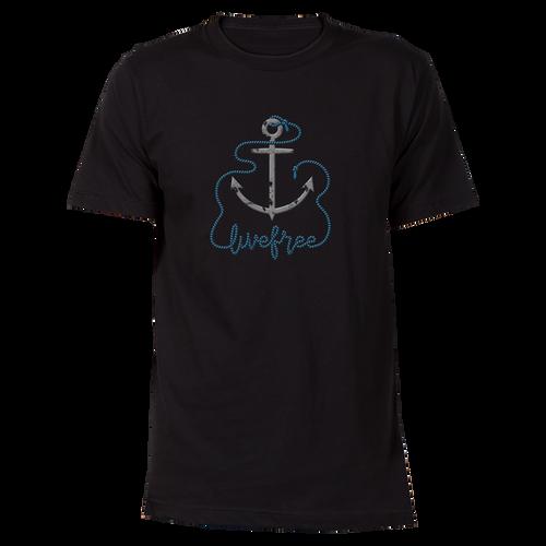 Gray Anchor Cotton T-Shirt