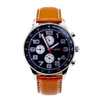 20 Series- Black Dial with Light Brown Strap