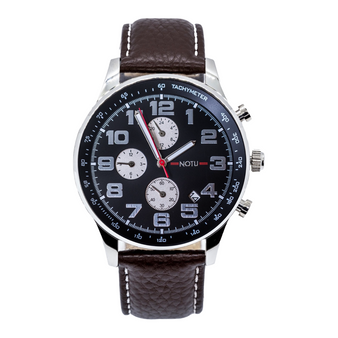20 Series- Black Dial with Brown Strap