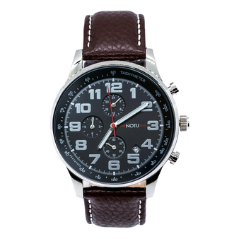 20 Series- All Black Dial with Brown Strap