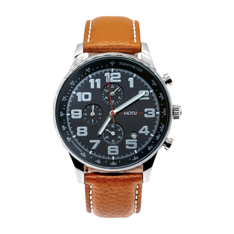 20 Series- All Black Dial with Light Brown Strap