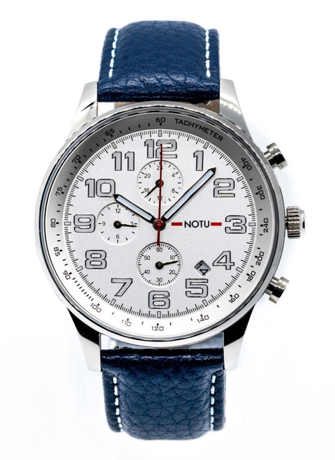 20 Series- Silver Dial with Blue Strap