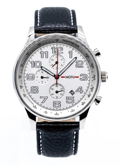 20 Series- Silver Dial with Black Strap