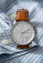 20 Series- Silver Dial with Light Brown Strap