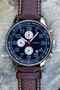 20 Series- Navy Blue Dial with Brown Strap