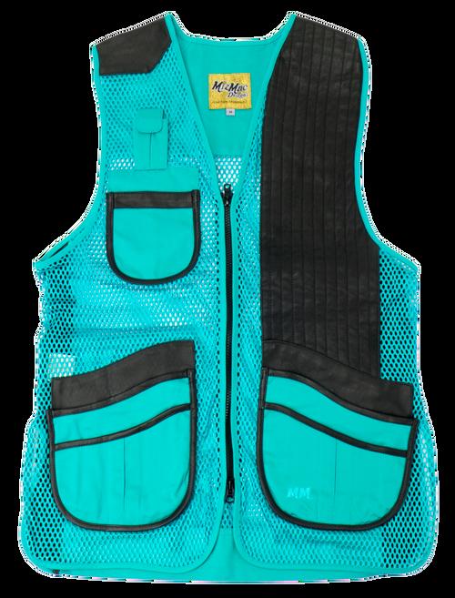 MizMac Ladies Vest  Turquoise/Black