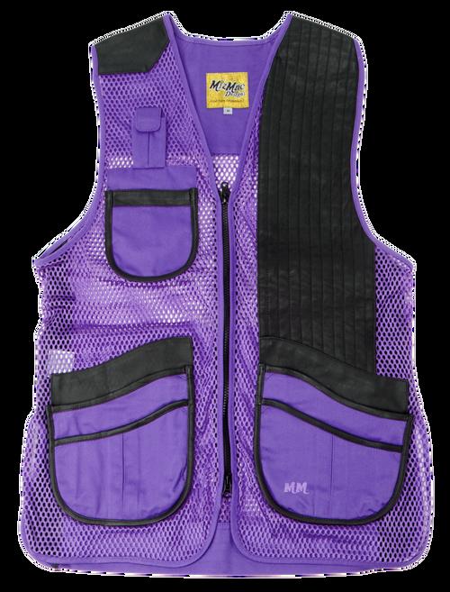 MizMac Ladies Vest  Purple/Black