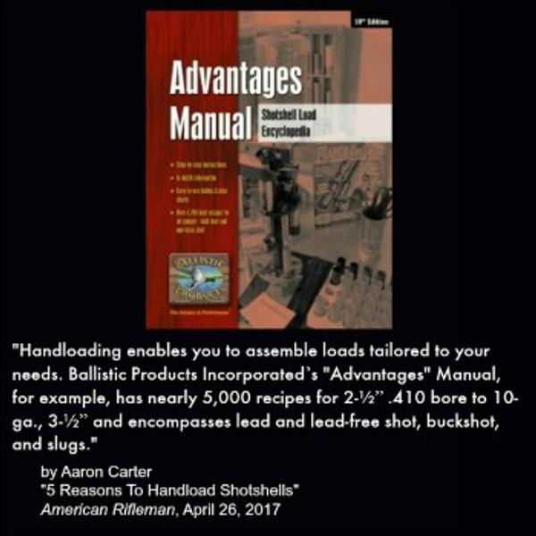 Advantages  Reloading Manual