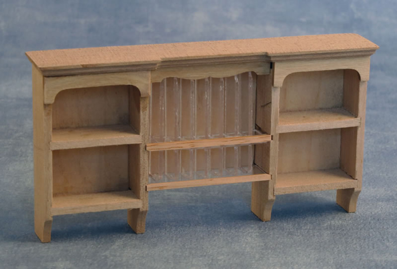 Barewood Wall Shelves with Plate Rack BEF210