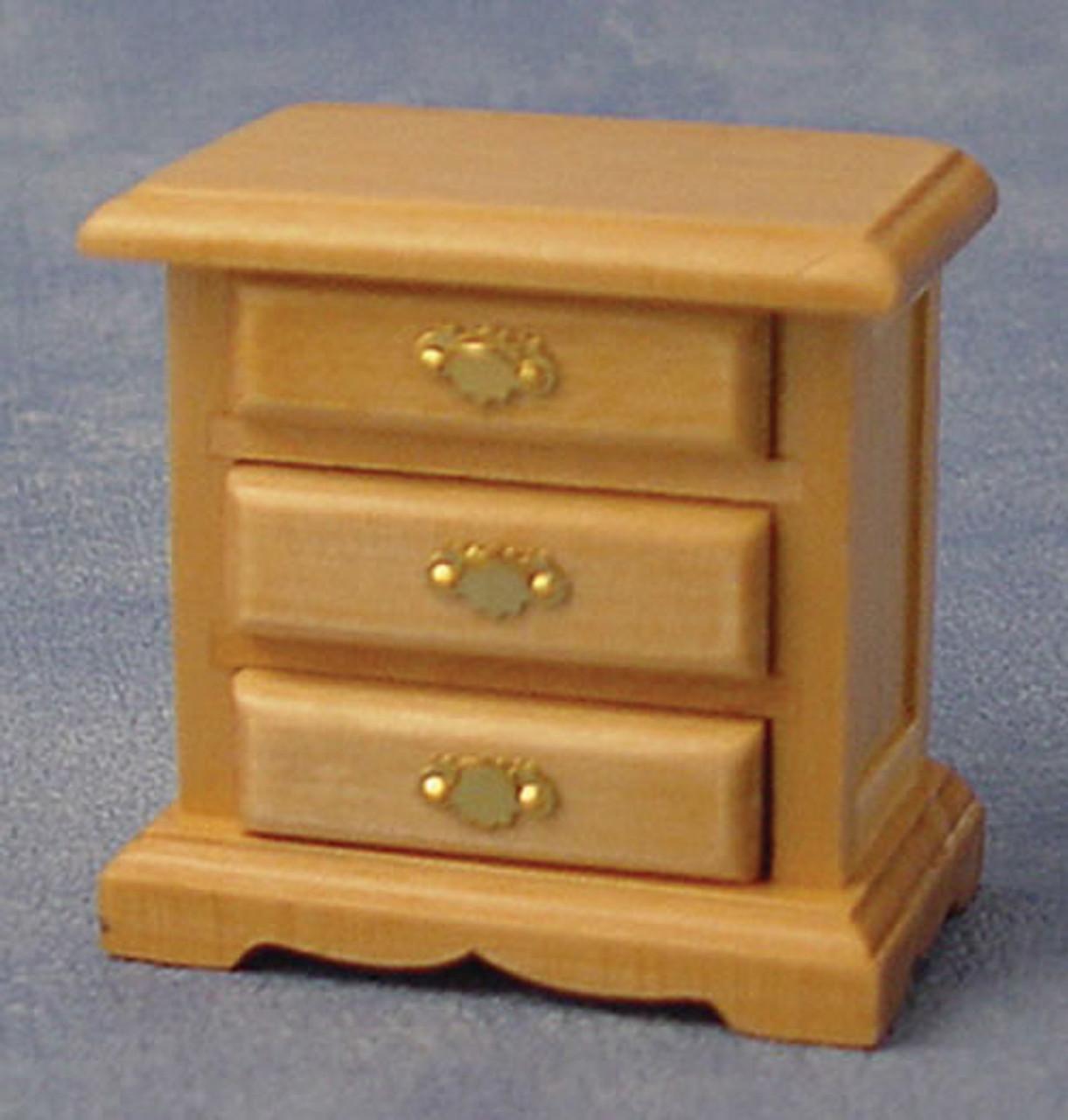 Pine 3 Drawer Bedside Cabinet DF941P