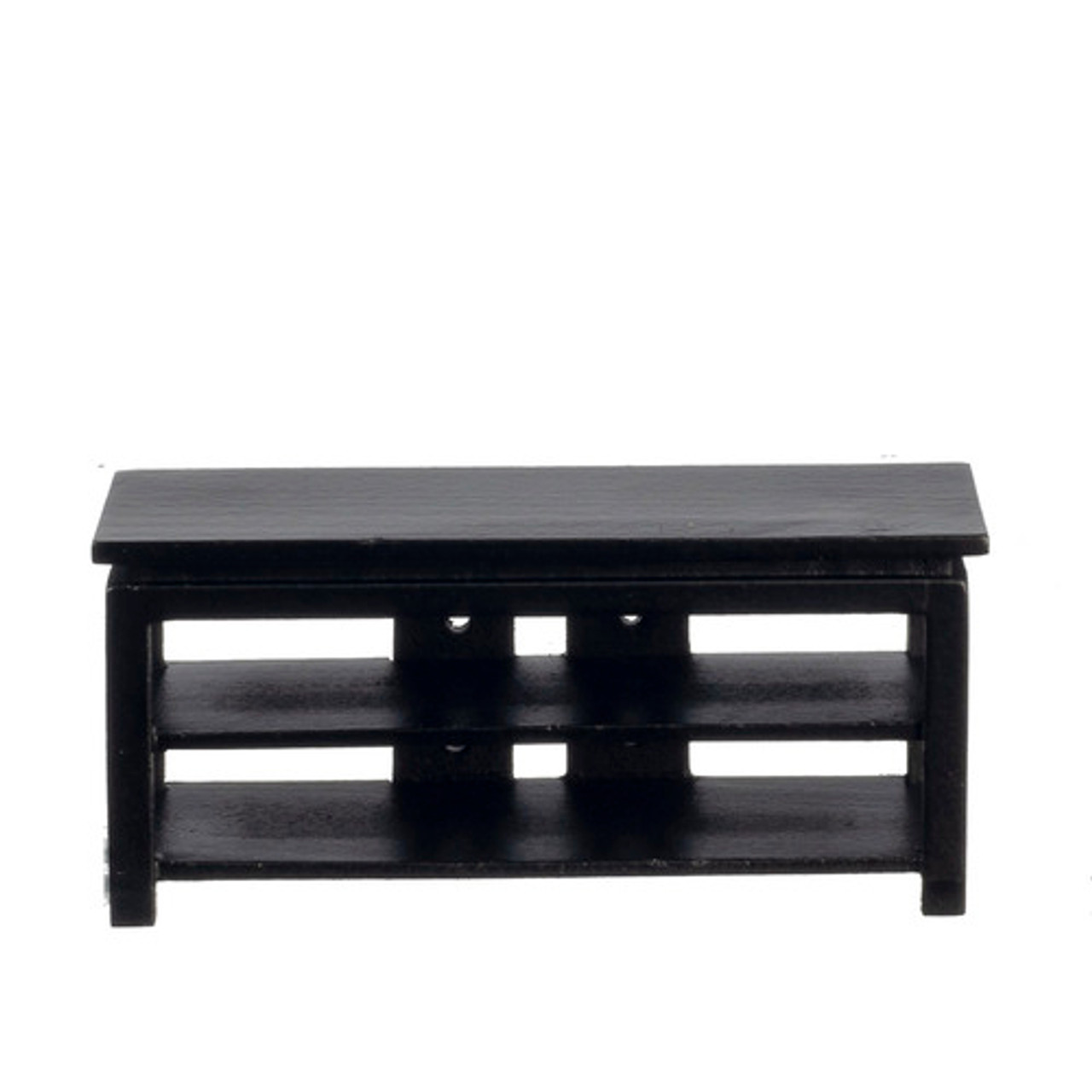 Modern Black Tv Stand T5978 The Dolls House Outlet