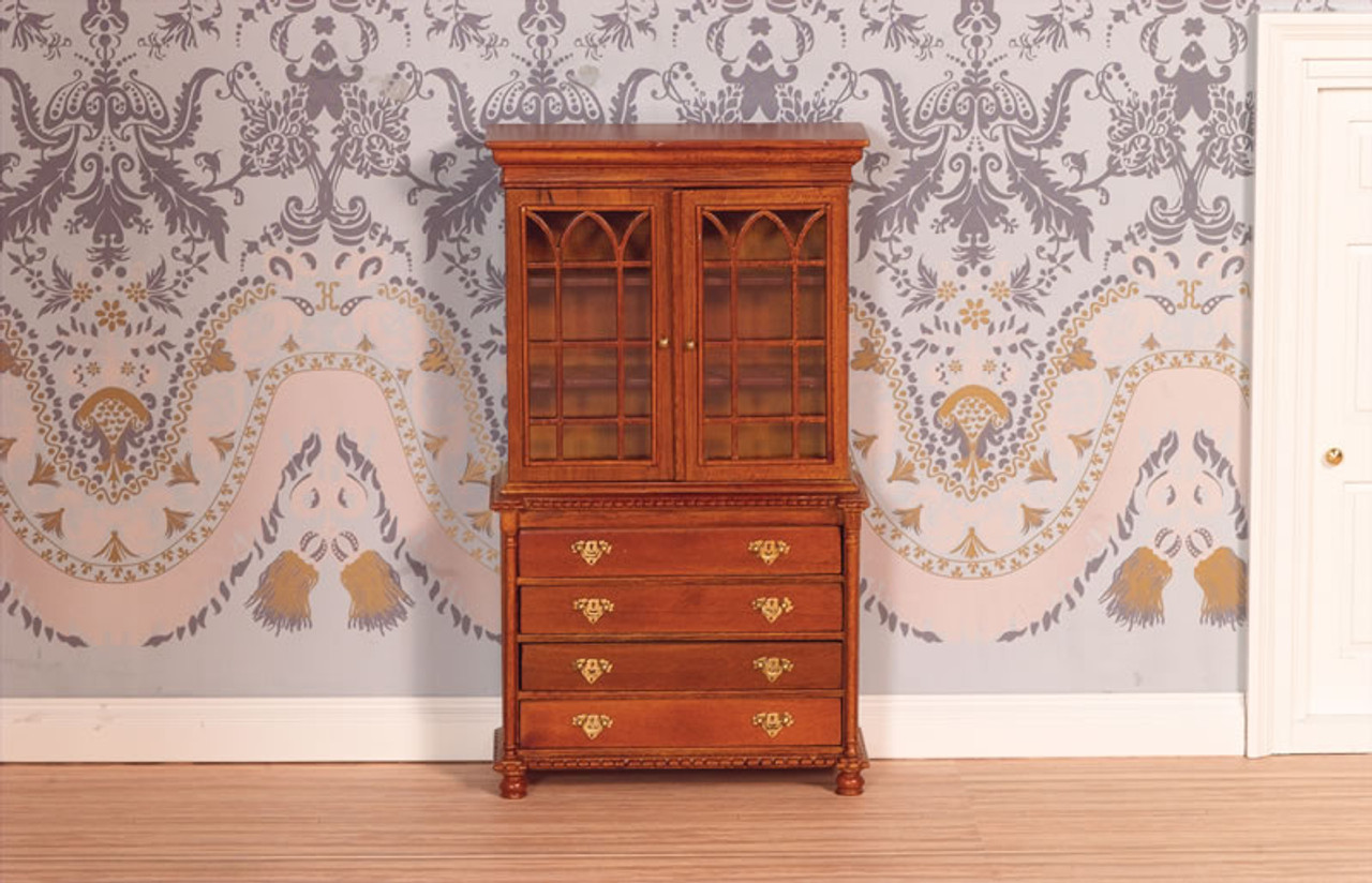 Bookcase Bureau in Walnut 2446