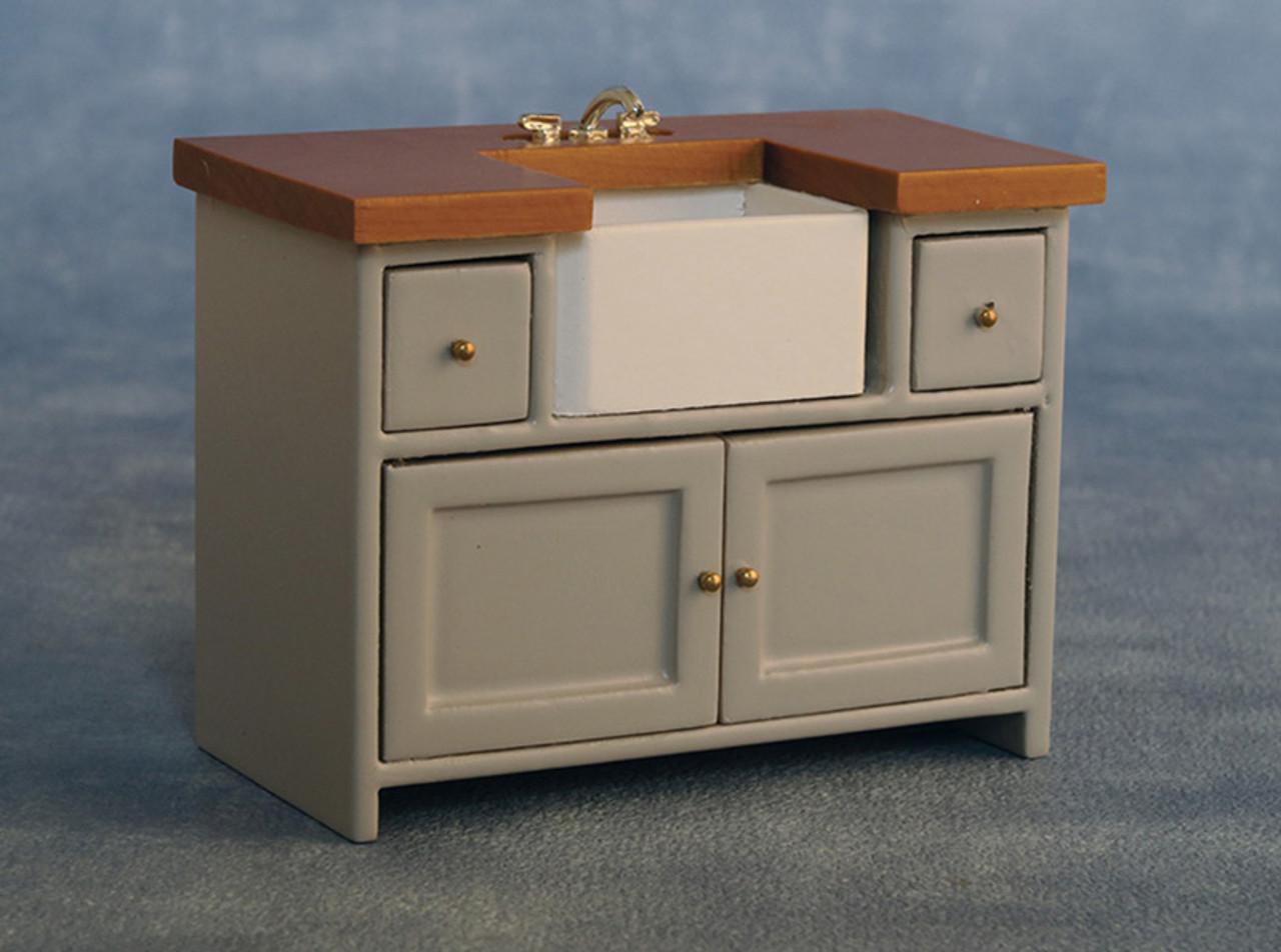 Shaker-Style Sink Unit Grey/Pine 9344
