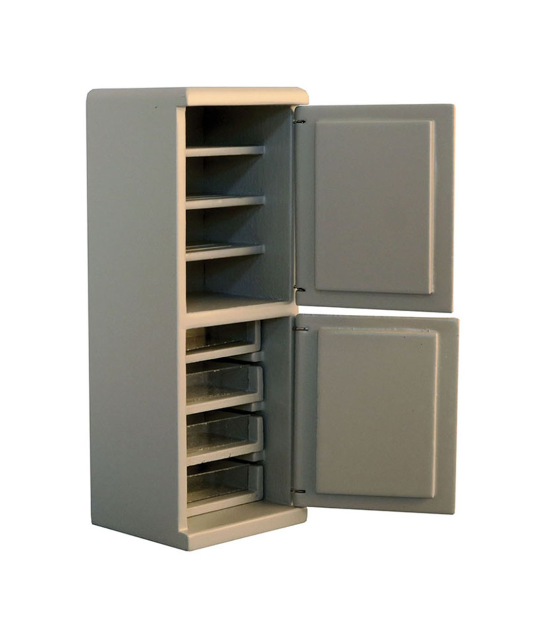 Grey Fridge Freezer 9345