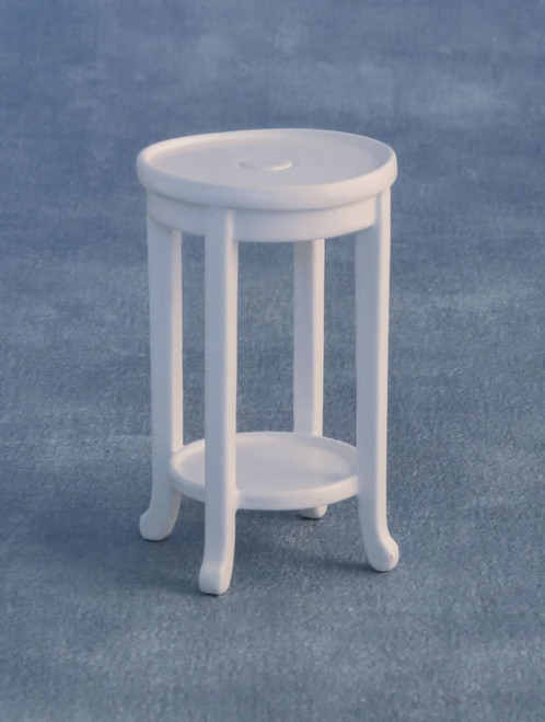 Inlaid Plant Stand in White 9312