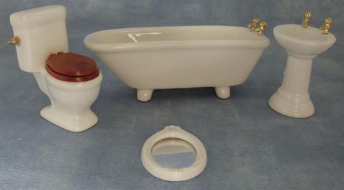 Ceramic Bathroom Set, 4 Pieces DF100