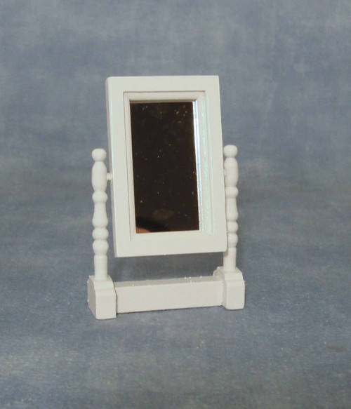 White Swivel Mirror DF1459