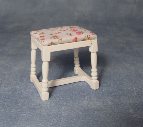 White Dressing Table Stool DF1493
