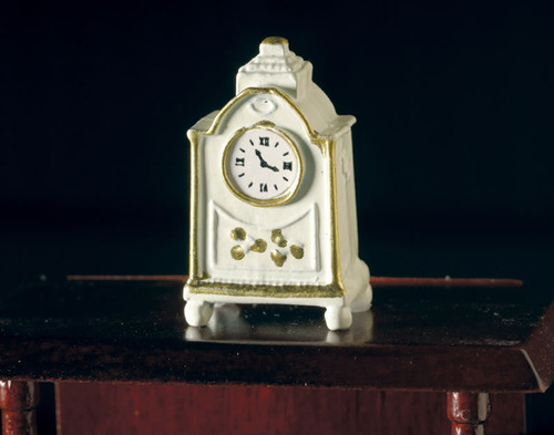 White Clock with 'Gold' Edging 3693
