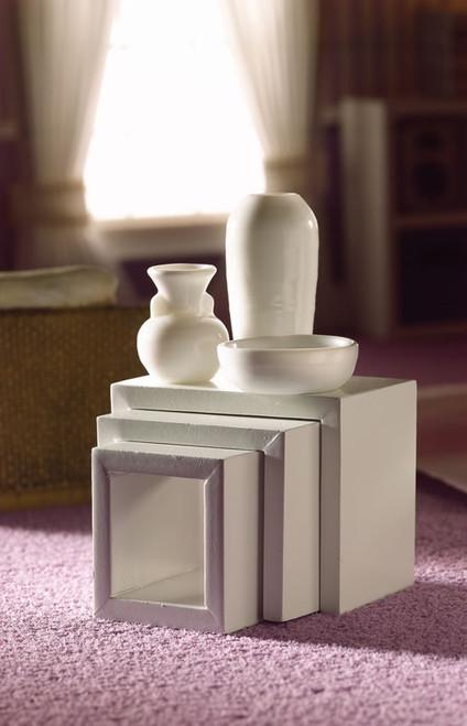Modern White Nest Of Three Tables 3736